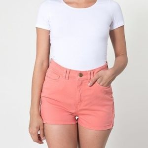High Waisted Rise Shorts Jean 24 25 Orange AA Mini